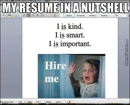 my worst advice getting a job