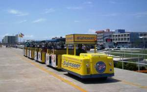tram car at the jersey shore wildwood